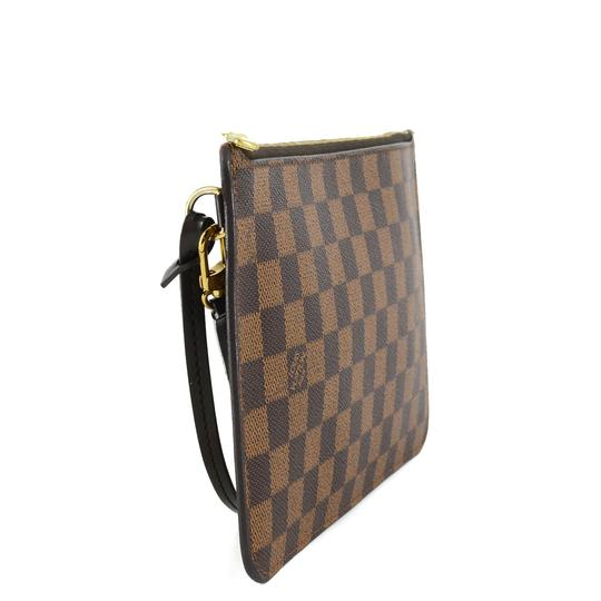 Louis Vuitton Damier Canvas Leather Classic Chic Wristlet Image 3