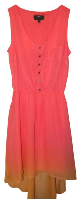 Preload https://item2.tradesy.com/images/mossimo-supply-co-pinkorange-ombre-high-low-casual-maxi-dress-size-0-xs-258531-0-0.jpg?width=400&height=650