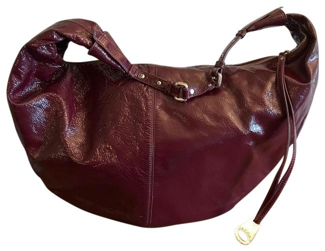 Item - Patent Leather Large Red Hobo Bag