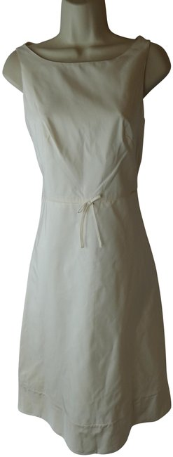 Item - White T Ivory Silk Mid-length Cocktail Dress Size 4 (S)
