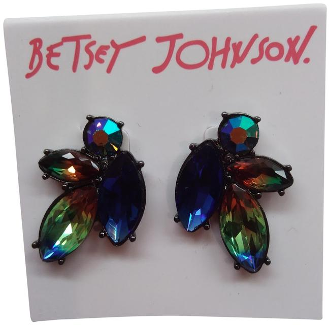 Item - Blue New Abstract Rhinestone Earrings
