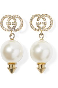 Gucci Gucci Interlocking GG Earrings with Pearl