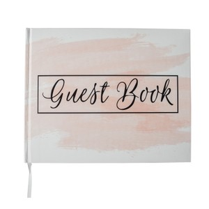 Pink Blush Guest Book 100 Blank Pages For Signatures