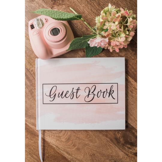 Pink Blush Guest Book 100 Blank Pages For Signatures Image 1