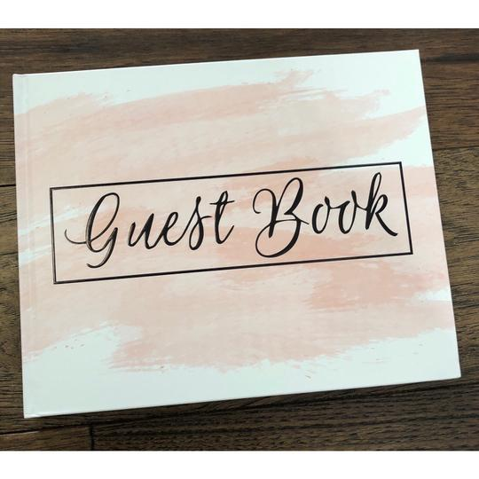 Pink Blush Guest Book 100 Blank Pages For Signatures Image 2