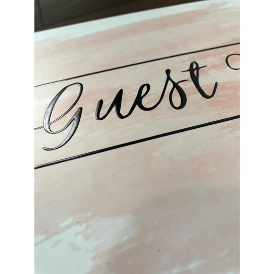 Pink Blush Guest Book 100 Blank Pages For Signatures Image 3