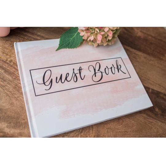 Pink Blush Guest Book 100 Blank Pages For Signatures Image 4