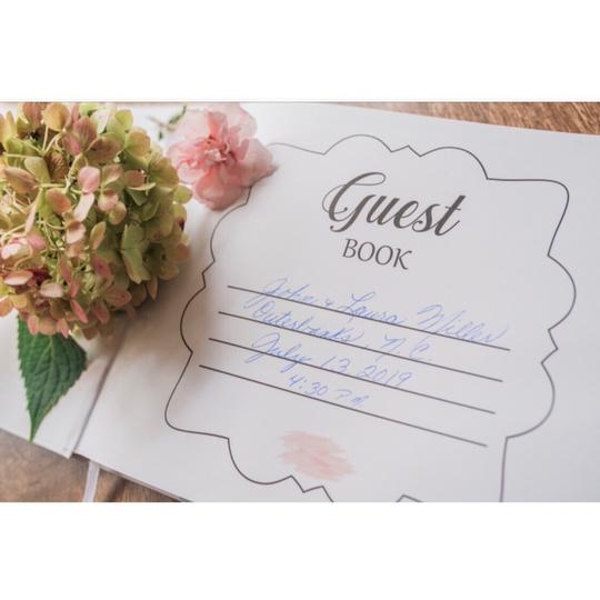 Pink Blush Guest Book 100 Blank Pages For Signatures Image 5
