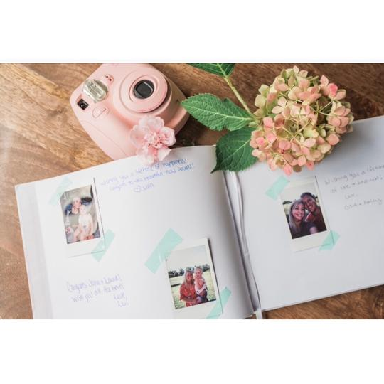 Pink Blush Guest Book 100 Blank Pages For Signatures Image 6