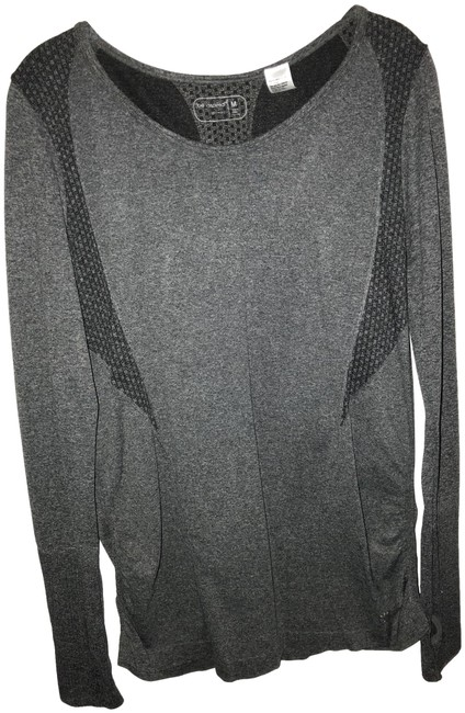 Item - Grey with Black and White Activewear Top Size 10 (M)