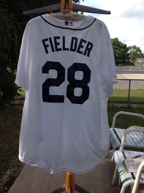 size 40 11a50 ee397 Majestic MLB White Jersey Throwback Detroit Tigers Cecil Fielder Activewear  Sportswear Size 28 (Plus 3x) 50% off retail