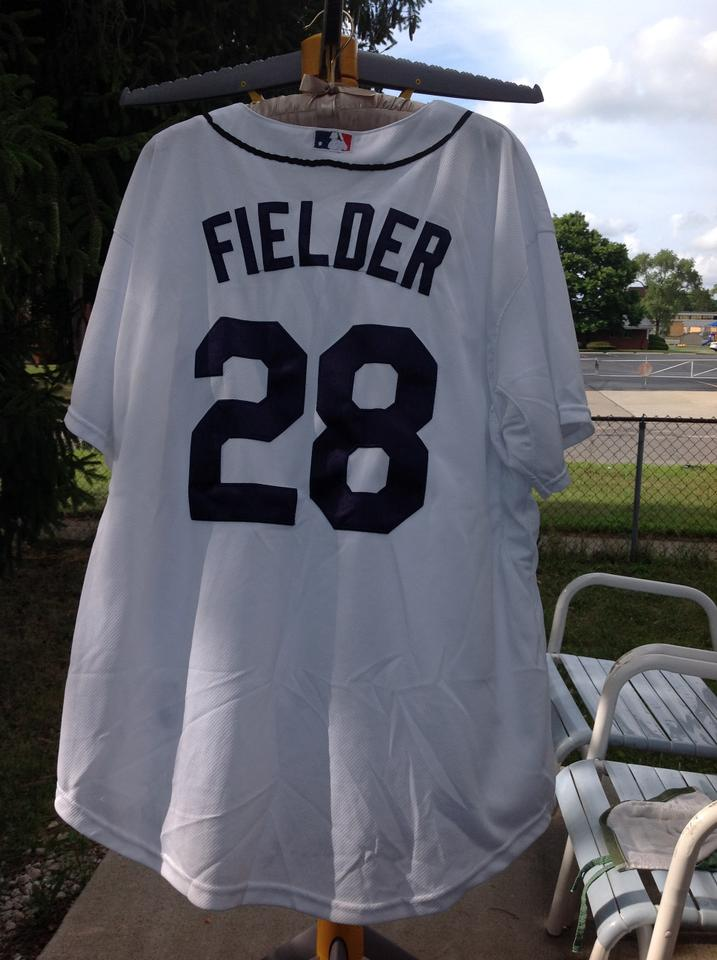 size 40 b1dcf 5016a Majestic MLB White Jersey Throwback Detroit Tigers Cecil Fielder Activewear  Sportswear Size 28 (Plus 3x) 50% off retail