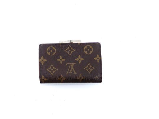 Louis Vuitton Monogram Canvas Leather French Compact Clutch Snap Wallet Image 2