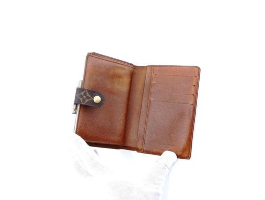 Louis Vuitton Monogram Canvas Leather French Compact Clutch Snap Wallet Image 3