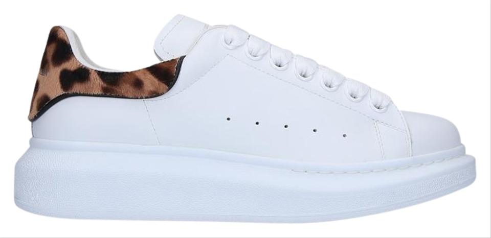 competitive price fffdc dcb8c Alexander McQueen White & Leopard Oversize Sneakers Size EU 37 (Approx. US  7) Regular (M, B)