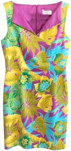 David Meister short dress Purple, Green, Yellow Floral Style#ujik3341 Usa on Tradesy