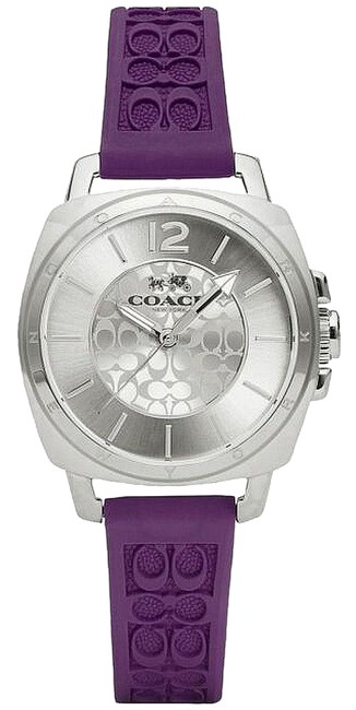 Item - Purple Silicone Stainless Signature 14502091 Watch
