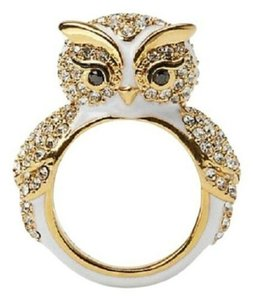 Kate Spade 12K Gold Plated Star Bright Owl Ring