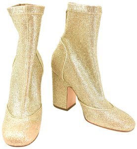 Laurence Dacade Leather Glittery Beige/Gold Boots