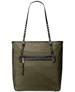 Michael Kors Nylon Travel Studded Olive Tote in Green