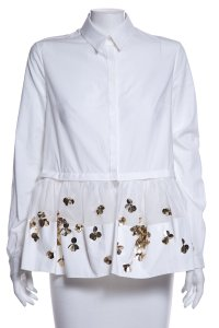 Delpozo Button Down Shirt White