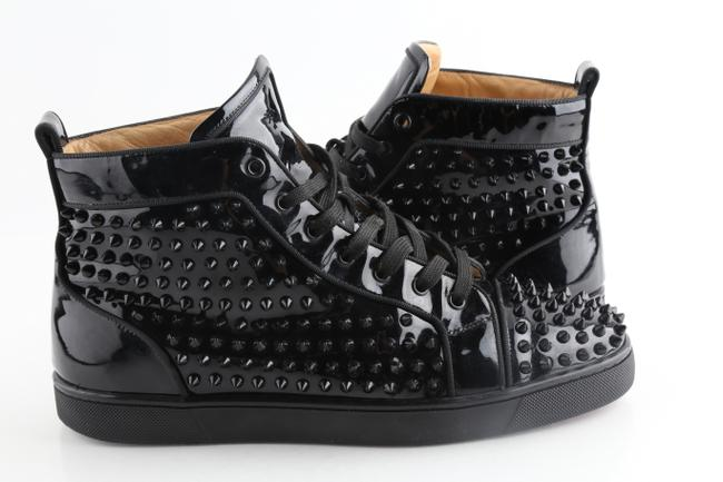 Item - Black Patent Louis Spiked Sneakers Shoes