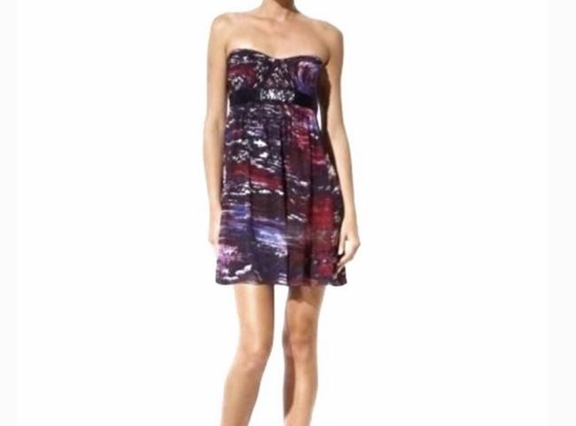 BCBGMAXAZRIA short dress Purple, Pink Silk Beaded Empire Waist Mini on Tradesy Image 1