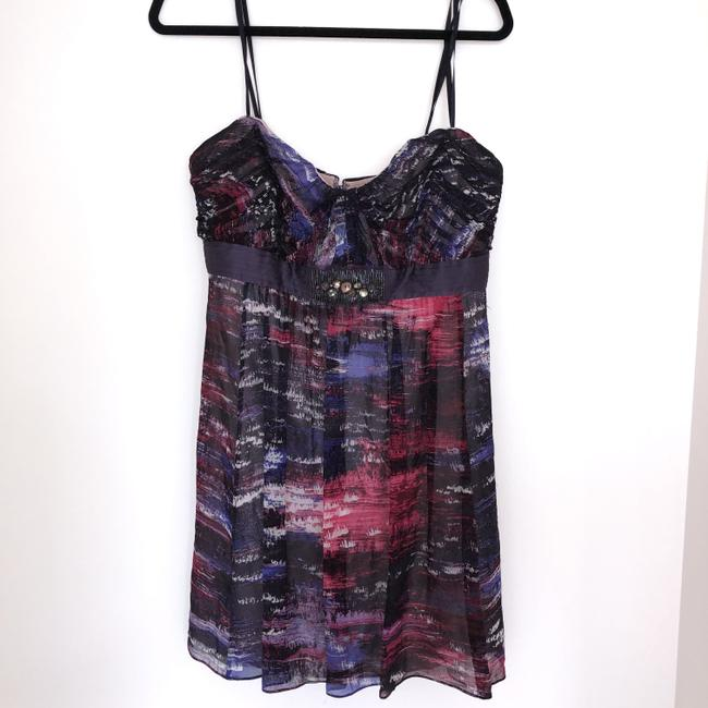 BCBGMAXAZRIA short dress Purple, Pink Silk Beaded Empire Waist Mini on Tradesy Image 2
