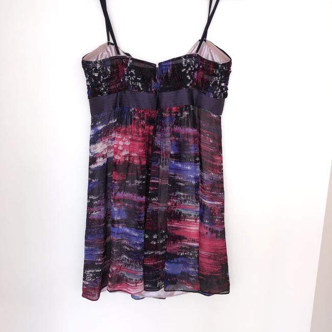 BCBGMAXAZRIA short dress Purple, Pink Silk Beaded Empire Waist Mini on Tradesy Image 3