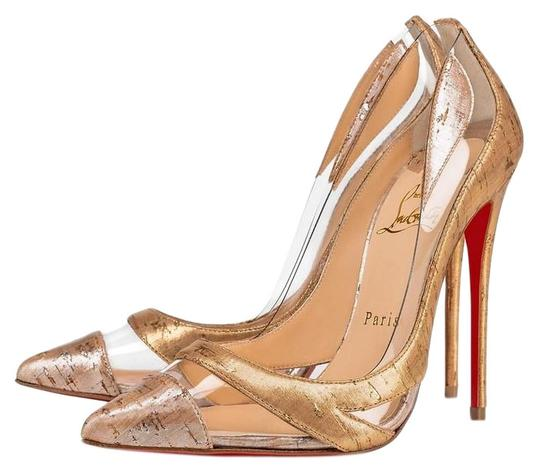 Christian Louboutin Pigalle Stiletto Classic Galeria Studded Silver Pumps Image 0