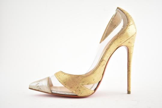 Christian Louboutin Pigalle Stiletto Classic Galeria Studded Silver Pumps Image 7