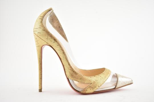 Christian Louboutin Pigalle Stiletto Classic Galeria Studded Silver Pumps Image 1