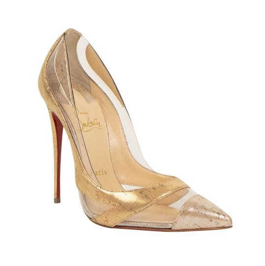 Christian Louboutin Pigalle Stiletto Classic Galeria Studded Silver Pumps Image 2