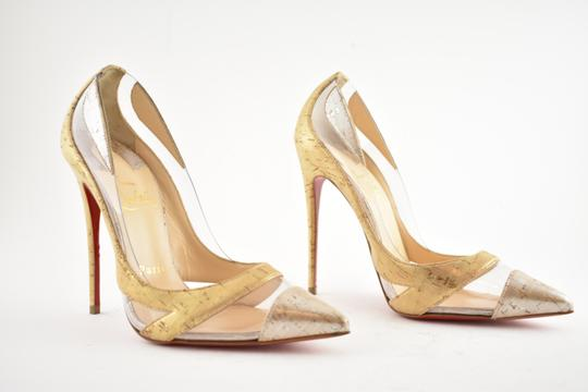 Christian Louboutin Pigalle Stiletto Classic Galeria Studded Silver Pumps Image 3