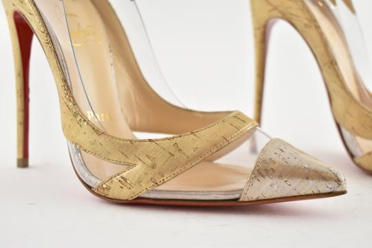 Christian Louboutin Pigalle Stiletto Classic Galeria Studded Silver Pumps Image 4