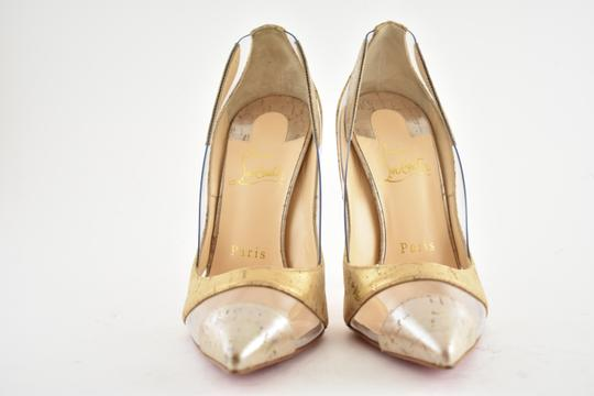 Christian Louboutin Pigalle Stiletto Classic Galeria Studded Silver Pumps Image 5