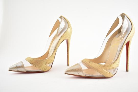 Christian Louboutin Pigalle Stiletto Classic Galeria Studded Silver Pumps Image 8