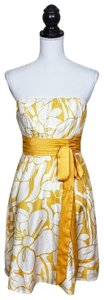 The Limited Floral Strapless Sleeveless Bow Dress