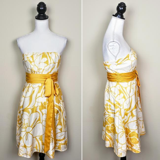 The Limited Floral Strapless Sleeveless Bow Dress Image 1
