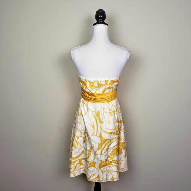 The Limited Floral Strapless Sleeveless Bow Dress Image 3