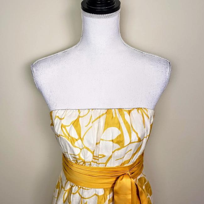 The Limited Floral Strapless Sleeveless Bow Dress Image 4