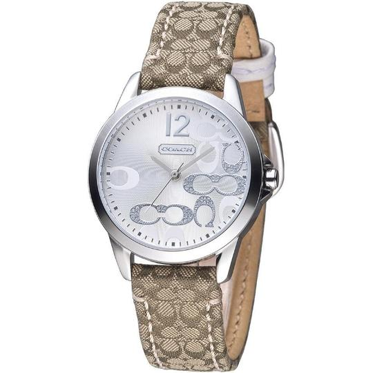 Coach Classic Signature Brown Leather Stainless Silver Dial 14501620 Watch Image 2