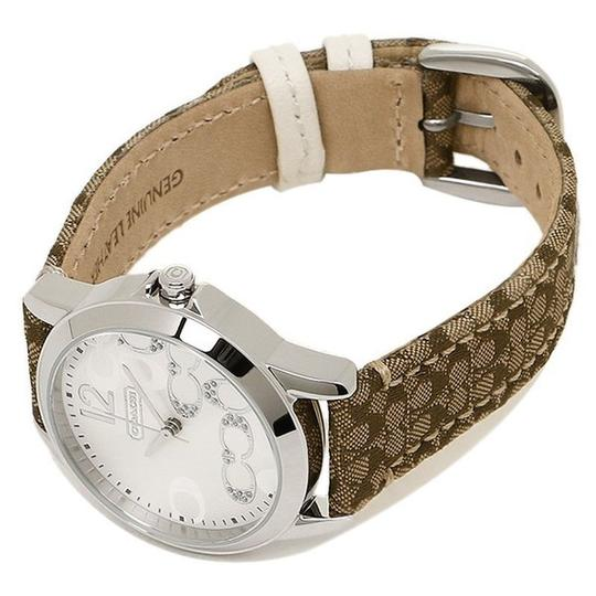 Coach Classic Signature Brown Leather Stainless Silver Dial 14501620 Watch Image 3