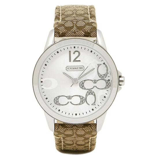 Coach Classic Signature Brown Leather Stainless Silver Dial 14501620 Watch Image 4