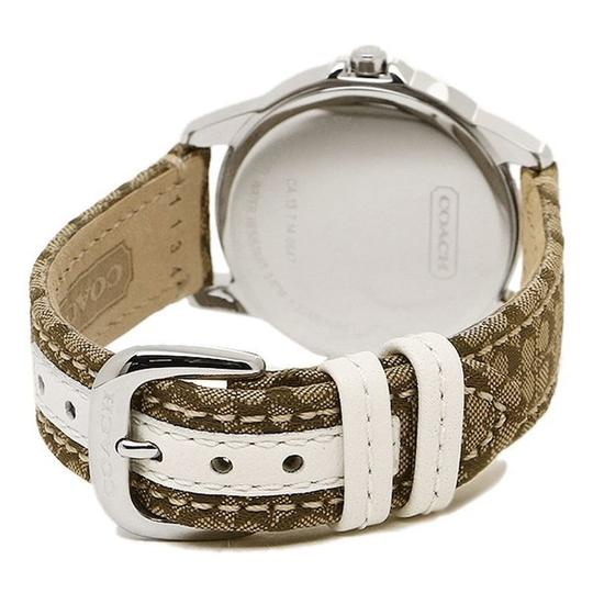 Coach Classic Signature Brown Leather Stainless Silver Dial 14501620 Watch Image 5
