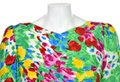 Carolina Herrera Flower Silk Floral Vintage Dress Image 1