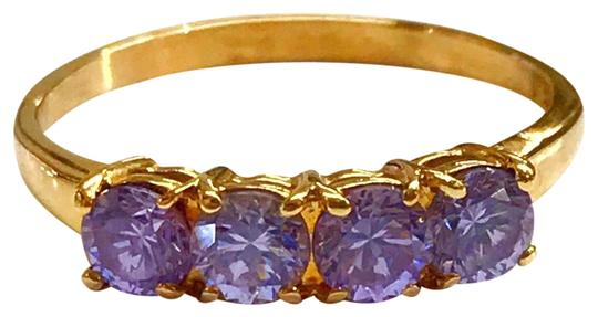 Preload https://img-static.tradesy.com/item/25854673/genuine-estate-collection-14-karat-yellow-gold-and-purple-stone-ring-0-1-540-540.jpg