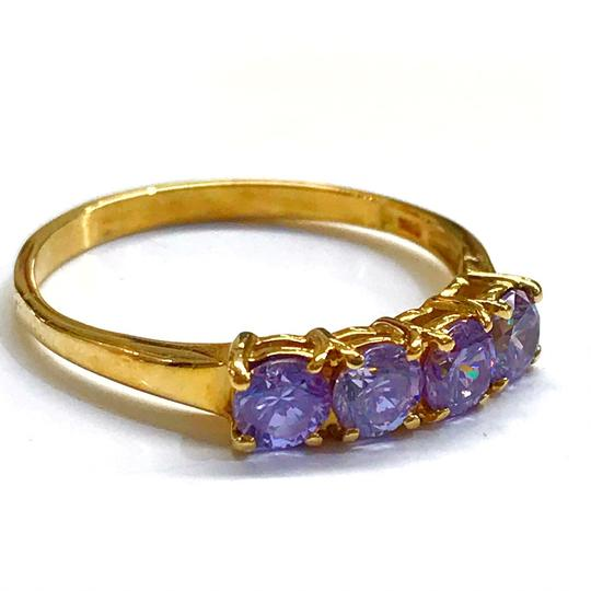 DeWitt's BEAUTIFUL!! GENUINE DEWITT ESTATE COLLECTION!! 14 Karat Yellow Gold, and Purple Stone Ring Image 1