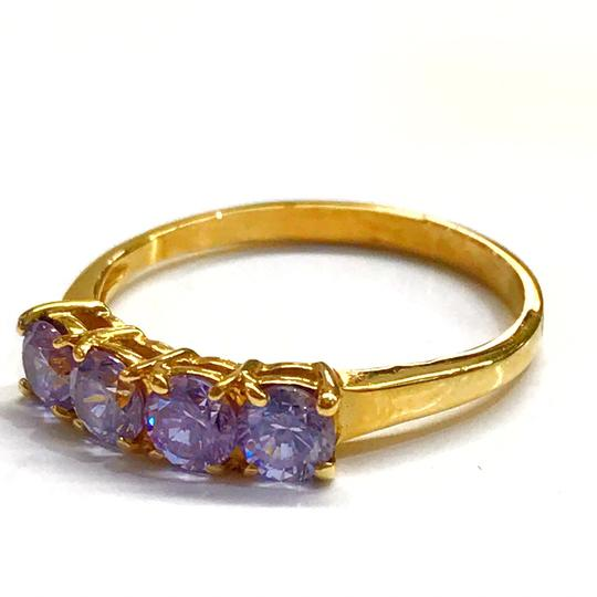 DeWitt's BEAUTIFUL!! GENUINE DEWITT ESTATE COLLECTION!! 14 Karat Yellow Gold, and Purple Stone Ring Image 2