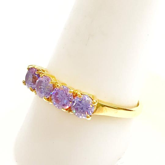 DeWitt's BEAUTIFUL!! GENUINE DEWITT ESTATE COLLECTION!! 14 Karat Yellow Gold, and Purple Stone Ring Image 5